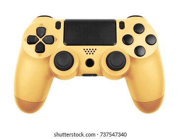 Gamepad from the game console isolated on a white background with clipping path
