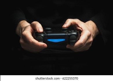 Gamepad in the hands
