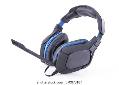 Gaming Headset with microphone on white background