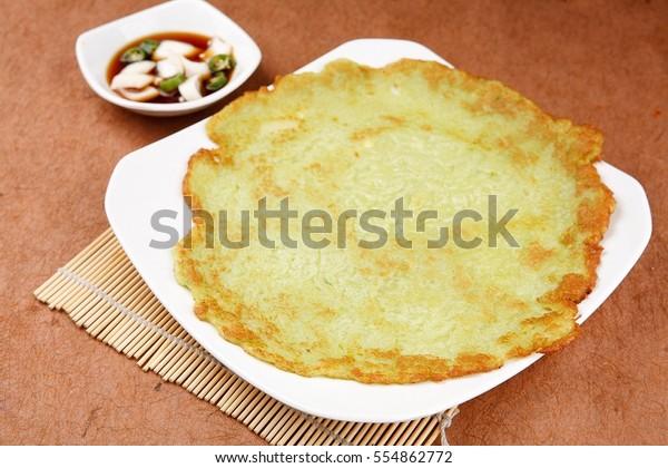 Gamja Jeon Pototo Brown Jeon Panfried Stock Photo Edit Now 554862772