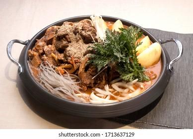 Gamjatang phone bone Korean hot pot