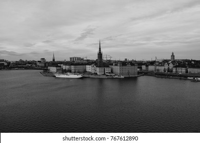 Gamla stan black and white