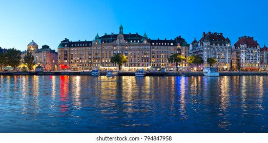 Gamla Stan-Panoramic view of Old Town in Stockholm, Sweden