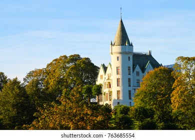 Gamlehaugen Palace, the Bergen residence of Norways  royal family, in Bergen, Norway, Scandinavia in the Fall