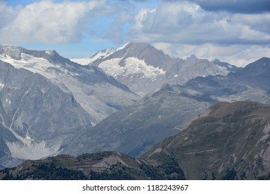 The Gamlihorn in the Bernese Alps, Switzerland, viewed from the Swiss Italian border at the Chriegal Pass
