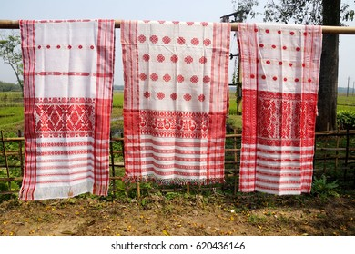 Gamosa (Gamocha/ Gamusa) is a unique identity of Assamese Society. This small piece of cloth with floral design has high esteem and wide usage in Assamese culture.
