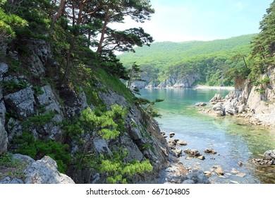 Gamov Peninsula. Primorye. Russia.