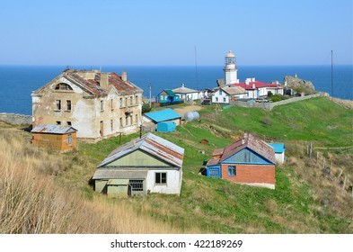 Gamova peninsula, Russia, Primorye, 08,05,2016, the lighthouse on the Peninsula Gamov