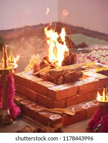 Ganapathy homam - a Hindu ritual performed with fire to please Lord Ganapathy, also known as Ganesha, to remove obstacles and bring success and harmony in any new venture.