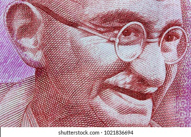 Gandhi portrait on 2000 Indian rupees note