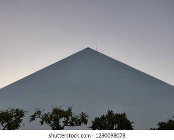 Gandhinagar, Gujarat/India- January 6, 2019: The exteriors of the Dandi Kutir Museum, which is shaped like salt heap, in Gandhinagar which is a tribute to Mahatma Gandhi.