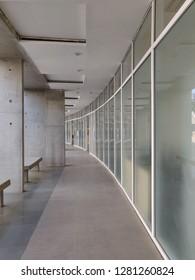Gandhinagar, Gujarat/India- January 6, 2019: A beautiful corridor in the Dandi Kutir premises!