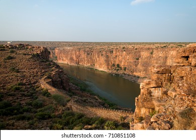 Gandikota castle wall and great canyon view