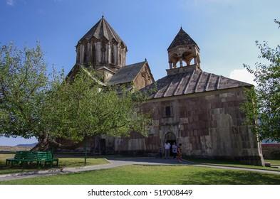 Gandzasar, Nagorno Karabakh Republic- September 20, 2014: Old medieval armenian church of  Gandzasar monastery, Nagorno-Karabakh Republic