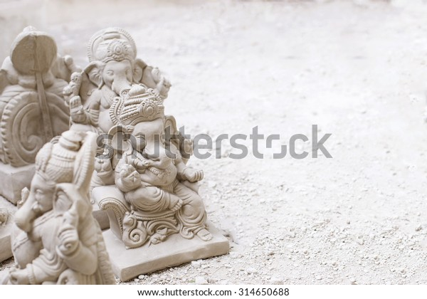 Ganesh Idols White On White Stock Photo Edit Now 314650688