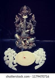 Ganesha chathurthi... White chocolate candle for lord Ganesha... Edible candle...