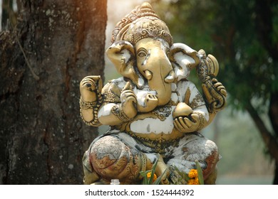 Ganesha is the god of success. That Hindus in India And Buddhists around the world respect And worship. The Statue of Ganesha God of Infergrity.