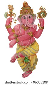 Ganesha graphic art with Clipping Part