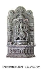 ganesha hindu god isolated on white background