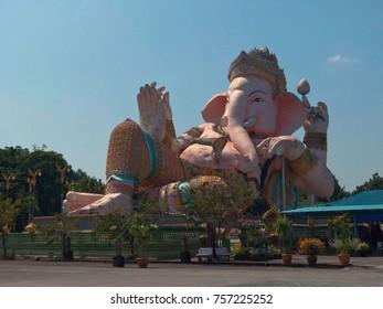 Ganesha, hindu god of success, in Nakhon nayok province, Thailand (28 October 2017)