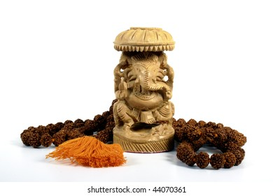 Ganesha with Prayer Beads