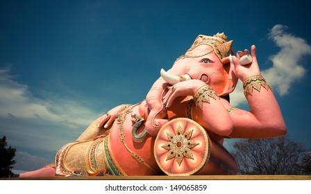 Ganesha statue and Hindu god, Thailand.