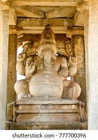 Ganesha Temple at the Sacred Center around Hampi,