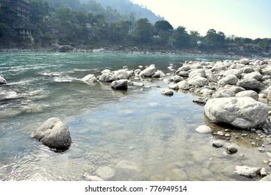Ganga river in Rishikesh