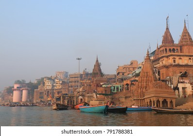 Ganges river ghat Varanasi India
