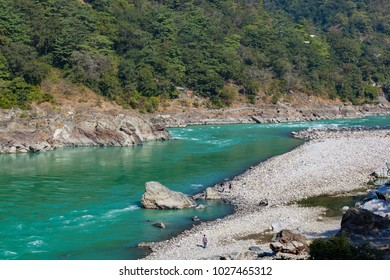 Ganges river is a rafting place and has awesome nature in Rishikesh, Uttarakhand, India