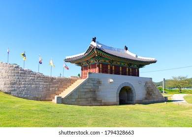 Ganghwa-gun, Incheon, South Korea July 15, 2020 -Jwagang Donedae Outpost. korea ganghwado historical site landscape.