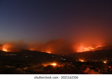 GANGI, SICILY, ITALY, 4 August A copious fire broke out around 4.00 pm in Gangi, on the border between the Nebrodi and Madonie mountains. The fire was burned by criminal arsonists in Sicily on 2021.