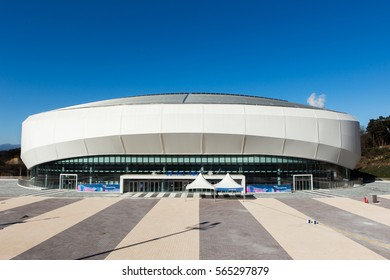 GANGNEUNG, SOUTH KOREA - JANUARY, 2017: Gangneung Ice Arena for the Olympic Games 2018 in Pyeongchang