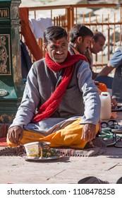 GANGOTRI, INDIA - MAY 23rd - A Hindu priest at the temple of Goddess Ganga at Gangotri on May 23rd 2013.