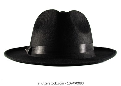 Gangster Hat isolated on white b52a9103c155