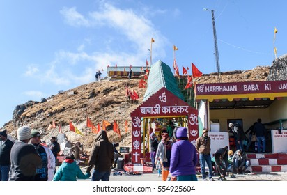 Gangtok,sikkim,India. December 29,2016.Old Baba Mandir or Adi Baba Mandir  is dedicated to Baba Harbhajan Singh a Sepoy in the 23rd Regiment, who died near the Nathu La during Indo China war in 1962.