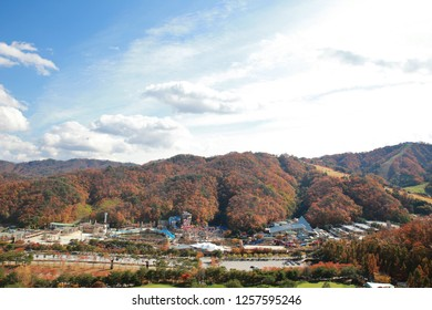 gangwon-do, South Korea - 10 29 2018 : The Vivaldi Park Resort in Gangwon-do, Seoul is famous for its water parks and ski resorts.