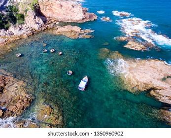 Ganh Da Dia (Da Dia reef) in Phu Yen, Vietnam from above
