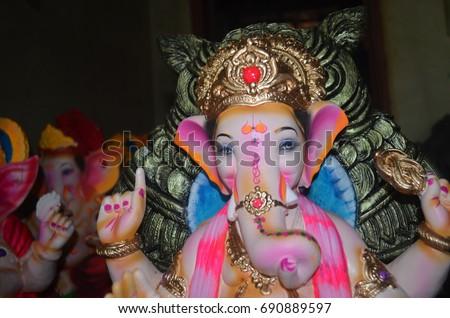 Ganpati Bapa Raja Hd Wallpapers Stock Photo Edit Now 690889597