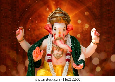 Ganpati with Beautiful background, Lord Ganesha, Ganpati Bappa Morya
