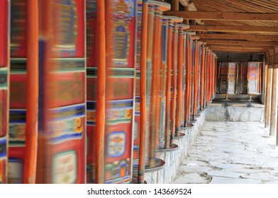 GANSU,CHINA - SEP 22:Labrang Monastery on Sep 22,2012 in Gansu Province China.Labrang Monastery called little Tibet is the largest lama temple in gansu province