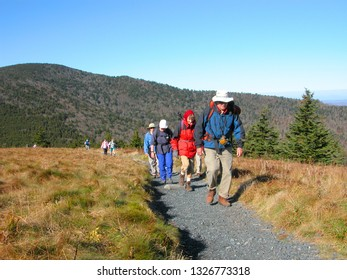 Carver's Gap, Appalachian Trail, The Balds, North Carolina, Tennessee border, highest mountains along Appalachian Trail Carver's Gap, Appalachian Trail, October 10, 2003