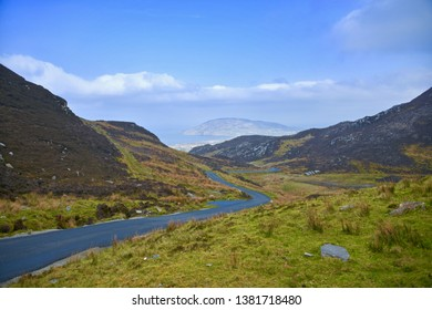Gap of Mamore donegal Ireland showing Atlantic beyond