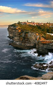 The Gap, a spectacular ocean cliff at Watsons Bay, near South Head, Sydney