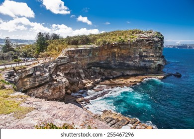 The Gap at Watsons Bay in Sydney on suny day, Australia.