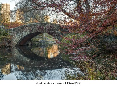 Gapstow Bridge is one of the icons of Central Park, Manhattan in New York City. Gapstow stands 12 feet high, spans 44 feet of water, and stretches 76 feet in its full length
