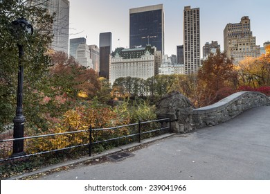 Gapstow Bridge is one of the icons of Central Park, Manhattan in New York City