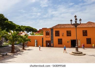 Garachico, Tenerife Island, Spain, 08 JUNE 2015: Street of Garachico Town on Tenerife Island, Canary, Spain