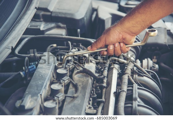 Garage Auto Car Service Professional Mechanic Stock Photo Edit Now 685003069