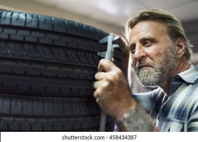 Garage Automotive Tuning Adjustment Tire Concept